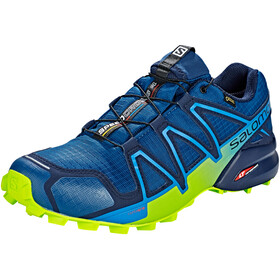 Salomon M's Speedcross 4 GTX Shoes Poseidon/Navy Blazer/Lime Green